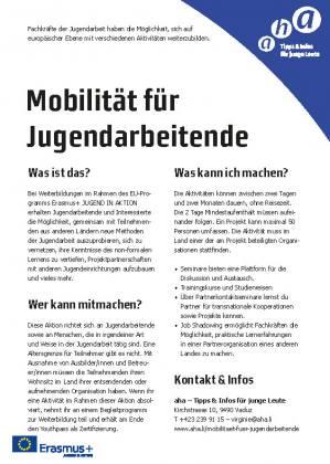 Mobilität für Jugendarbeitende
