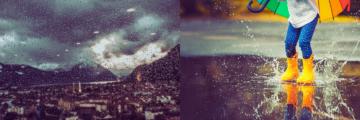 Was tun wenn's wie aus Kübeln regnet – in Liechtenstein und Umgebung